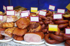 Variedade de carnes frias Imagens de Stock Royalty Free