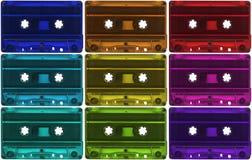 Variedade de cassetes de banda magnética Fotos de Stock