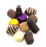 Variedade de chocolates finos Fotos de Stock Royalty Free