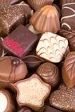 Variedade de chocolates finos imagem de stock royalty free