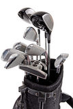 Variedade de clubes de golfe Foto de Stock