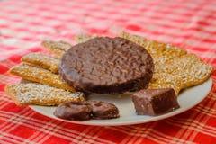 Variedade de cookies alemãs do Natal foto de stock