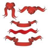 Variedade de fitas vermelhas Imagens de Stock