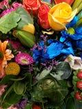 variedade de flor em um ramalhete floral para o presente do amor, do fundo e da textura fotografia de stock royalty free