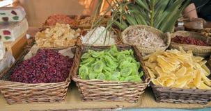Variedade de frutas cristalizadas Imagem de Stock