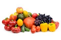Variedade de frutas e legumes frescas Foto de Stock Royalty Free