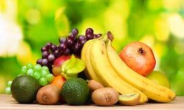 Variedade de frutas exóticas Fotografia de Stock