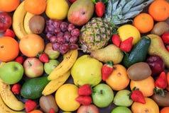 Variedade de fundo dos frutos Fotografia de Stock