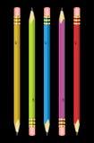 Variedade de lápis Fotografia de Stock