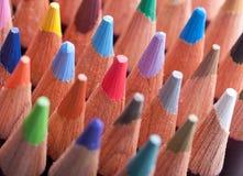 Variedade de lápis coloridos Fotos de Stock