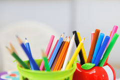Variedade de lápis coloridos Imagem de Stock Royalty Free
