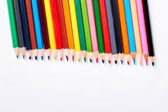 Variedade de lápis coloridos para tirar Fotografia de Stock Royalty Free