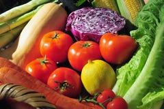 Variedade de legumes frescos Imagem de Stock