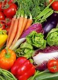 Variedade de legumes frescos Fotografia de Stock