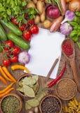 Variedade de legumes frescos Foto de Stock Royalty Free