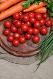 Variedade de legumes frescos Imagens de Stock