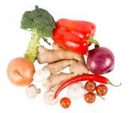Legumes frescos e especiarias imagem de stock