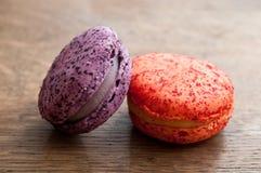 Variedade de macarons franceses Foto de Stock Royalty Free