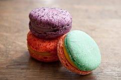 Variedade de macarons franceses Fotografia de Stock Royalty Free