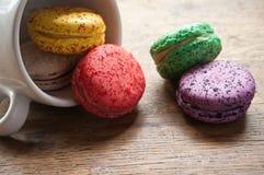 Variedade de macarons franceses Imagens de Stock Royalty Free