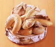 Variedade de pão fresco Foto de Stock Royalty Free