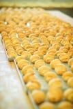 Variedade de produto da padaria, bolos, rolos, pastelarias dinamarquesas Fotografia de Stock Royalty Free