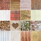 Variedade de projetos de madeira do fundo Fotos de Stock Royalty Free