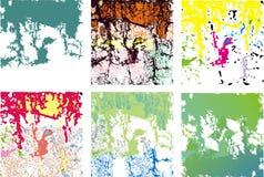Variedade de quadrados do grunge Fotografia de Stock Royalty Free