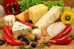 Variedade de queijo Imagens de Stock