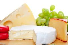 Variedade de queijos Imagem de Stock