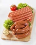 Variedade de salsichas Fotos de Stock Royalty Free