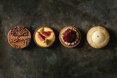 Variedade de tartlets doces foto de stock royalty free