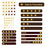 Grupo de botões da avaliação Fotografia de Stock Royalty Free