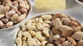 Variedade do amendoim video estoque