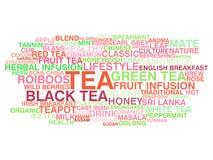 Variedade do chá ilustração stock