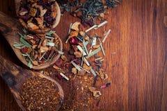 Variedade do chá seco Fotos de Stock
