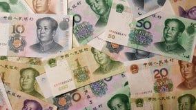 Variedade do chinês Renminbi Yuan Banknotes imagem de stock royalty free