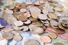 Variedade do dinheiro extrangeiro Fotografia de Stock