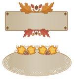 Variedade do frame do outono horizontal Fotografia de Stock