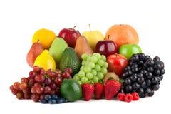 Variedade do fruto isolada no fundo branco imagem de stock