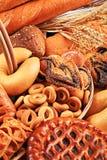 Variedade do pão foto de stock