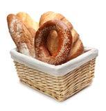 Variedade do pão cozido fotografia de stock