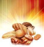 Variedade do pão cozido imagens de stock royalty free