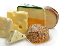 Variedade do queijo Fotografia de Stock Royalty Free