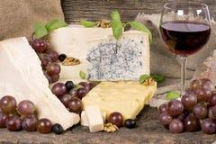 Variedade do queijo Fotos de Stock Royalty Free