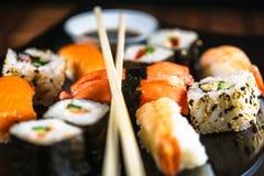 Variedade do sushi foto de stock royalty free