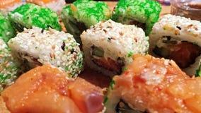 Variedade do sushi de Multycolor Imagem de Stock