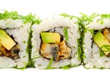 Variedade do sushi japonês. fotos de stock