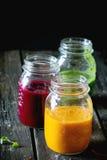 Variedade dos batidos vegetais Fotografia de Stock Royalty Free