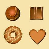 Variedade dos chocolates Imagens de Stock